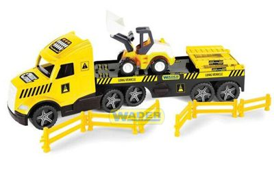 Евакуатор Magic Truck Technic з бульдозером Wader (36430)
